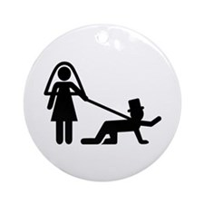 Bachelor party Wedding slave Ornament (Round)