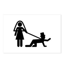 Bachelor party Wedding slave Postcards (Package of