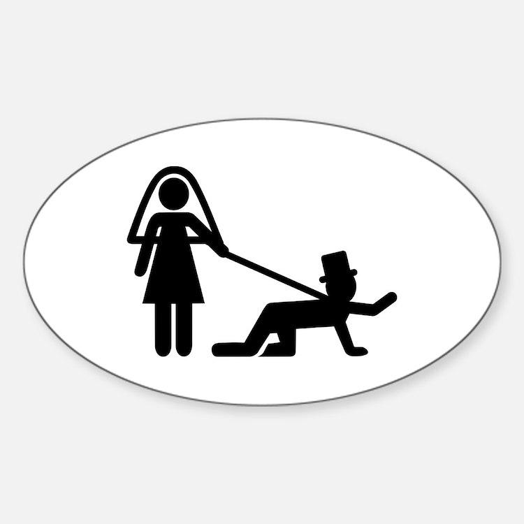 Bachelor party Wedding slave Sticker (Oval)