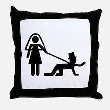 Bachelor party Wedding slave Throw Pillow