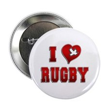 """I Love Rugby 2.25"""" Button"""