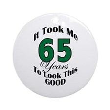 65 Years Old Ornament (Round)