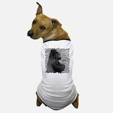 Male Gorilla on Rock Dog T-Shirt