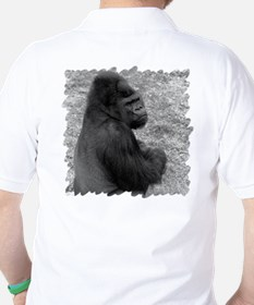 Male Gorilla on Rock T-Shirt
