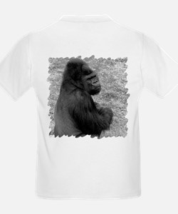 Male Gorilla on Rock Kids T-Shirt