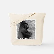 Male Gorilla on Rock Tote Bag