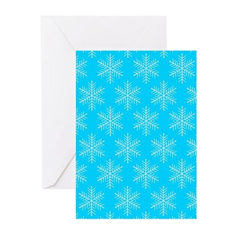 'Snowflakes' Greeting Cards (Pk of 10)