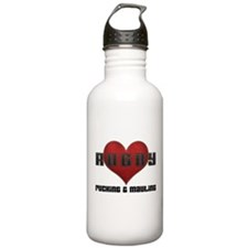 I Love Rugby Rucking & Mauling Water Bottle