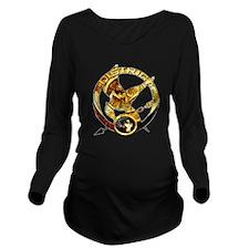 Hunger Games Mocking Jay Long Sleeve Maternity T-S