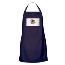 Illinois flag Apron (dark)