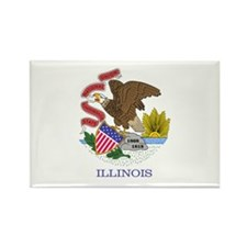 Illinois flag Magnets