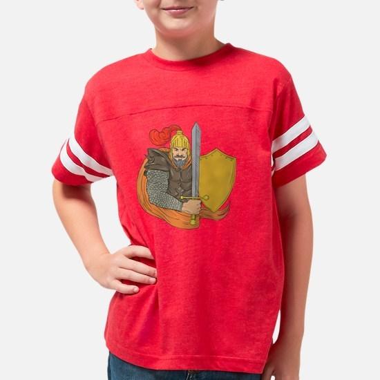 Cute Moustache Youth Football Shirt