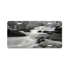 Snow Storm and Roaring Stre Aluminum License Plate