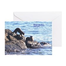 Otterly Cute Two!! Greeting Card