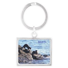 Otterly Cute Two!! Landscape Keychain