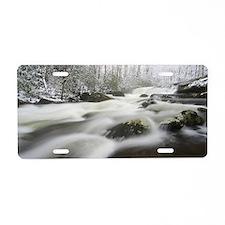 Winter Stream Aluminum License Plate