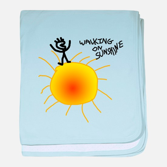Walking on Sunshine baby blanket