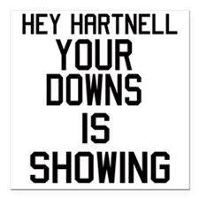 """hartnell downs Square Car Magnet 3"""" x 3"""""""