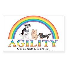 Celebrate Diversity(dogs) Sticker (Rect.)