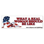 A REAL Woman Bumper Sticker