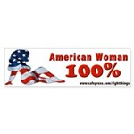 100% American Woman Bumper Sticker