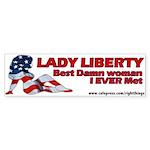 Lady Liberty Patriotic Bumper Sticker