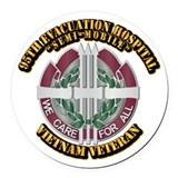 95th evacuation hospital Round Car Magnets