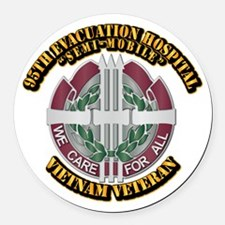Army - 95th Evac Hospital Round Car Magnet