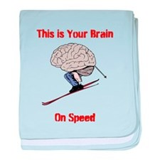 This is Your Brain on Speed baby blanket