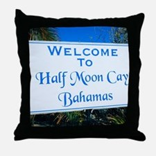 Half Moon Cay Bahamas Throw Pillow