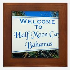 Half Moon Cay Bahamas Framed Tile