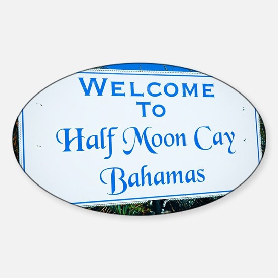 Half Moon Cay Bahamas Sticker (Oval)