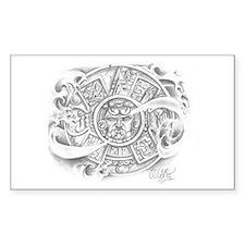 Aztec Calendar Rectangle Decal