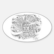 Aztec Calendar Oval Decal