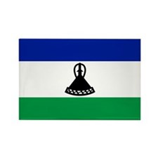 Lesotho Flag Rectangle Magnet