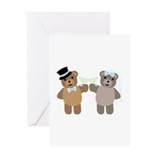 Wedding Bears Greeting Cards