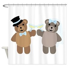 Wedding Bears Shower Curtain