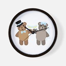 Wedding Bears Wall Clock