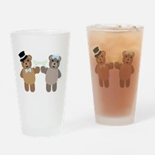 Wedding Bears Drinking Glass