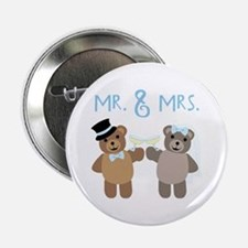 "Mr. And Mrs. 2.25"" Button"