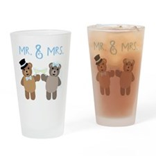 Mr. And Mrs. Drinking Glass