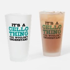 It's a Cello Thing Drinking Glass