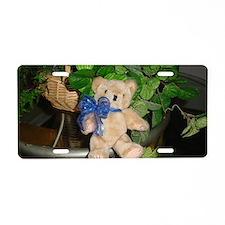 Cute Teddy Bear Aluminum License Plate