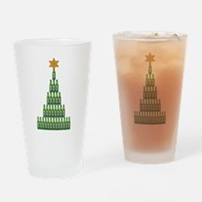 Beer Christmas Tree Drinking Glass