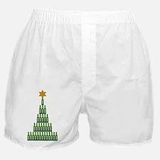 Beer Christmas Tree Boxer Shorts