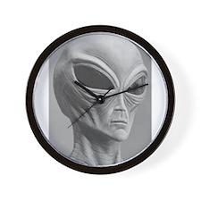 Alien Grey 11 Wall Clock