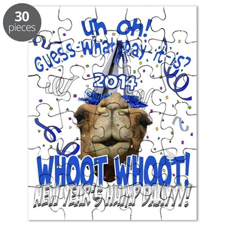 Original New Years Hump Day Camel 2014 Party Puzzl