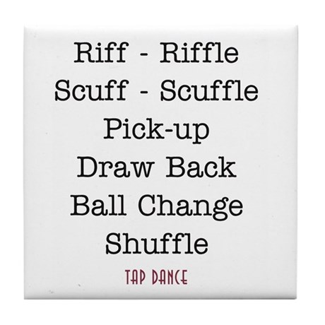 Riff-Riffle Scuff-Scuffle Tile Coaster