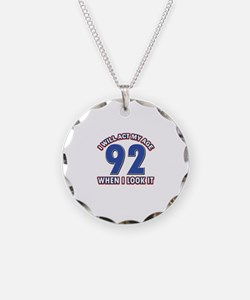Act 92 years old Necklace Circle Charm