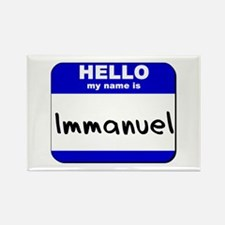 hello my name is immanuel Rectangle Magnet